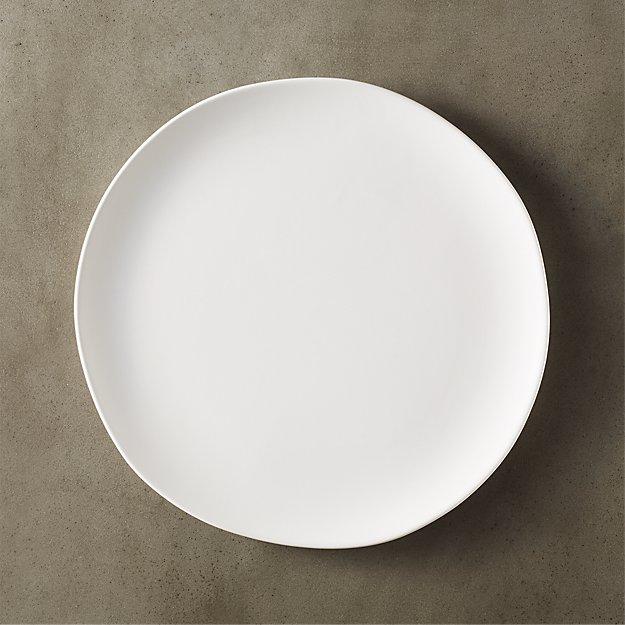Crisp Matte White Dinner Plate - Image 1 of 12