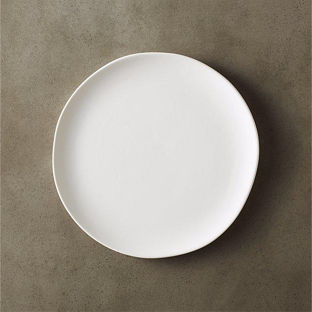 Crisp Matte White Salad Plate - Image 1 of 12