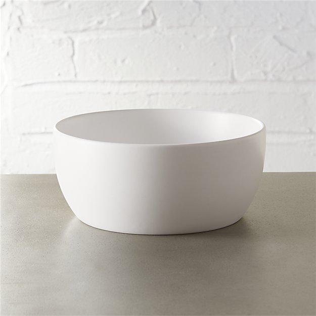 Crisp Matte White Soup Bowl - Image 1 of 12