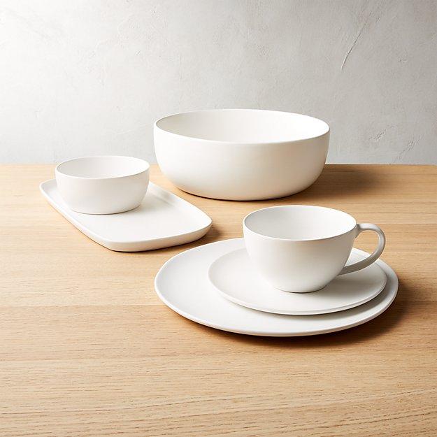 Crisp Matte White Dinnerware - Image 1 of 11