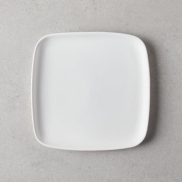 Crisp Matte White Square Salad Plate - Image 1 of 3