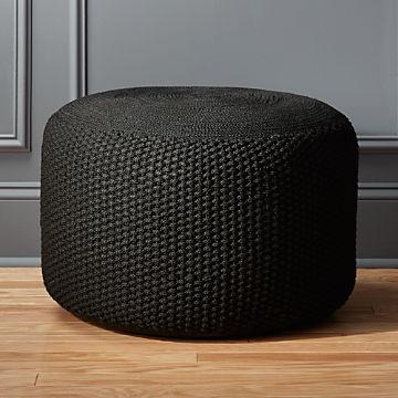 Fantastic Modern Poufs And Floor Pouf Seating Cb2 Beatyapartments Chair Design Images Beatyapartmentscom