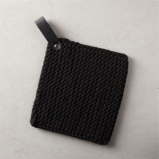 Crochet Black Pot Holder