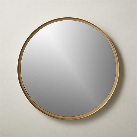 Croft Round Brass Mirror 36 Reviews Cb2
