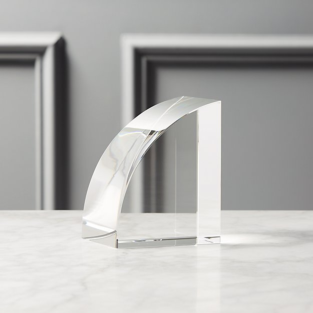 Crystal Glass Bookend - Image 1 of 11