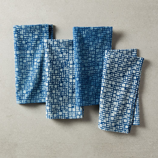 Cubes Block Print Napkins Set of 4