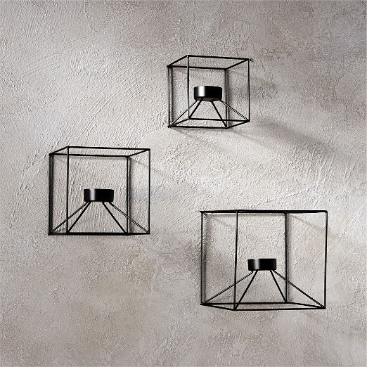 3-Piece Cubicle Wall Sconce Set