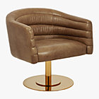 View product image cupa saddle leather swivel base chair - image 10 of 12