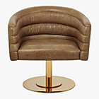 View product image cupa saddle leather swivel base chair - image 9 of 12