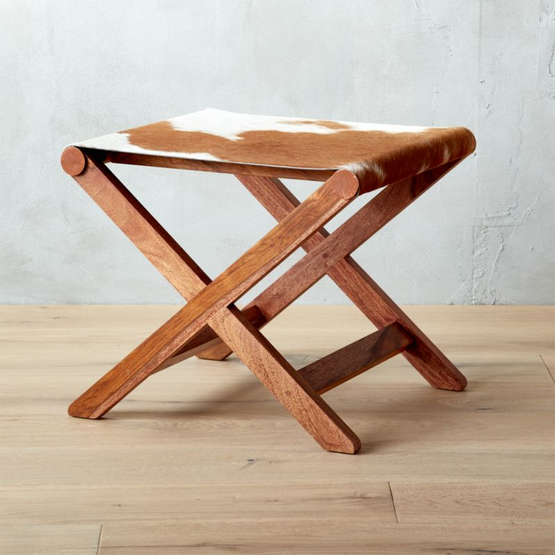 Merveilleux Curator Hide Stool Table