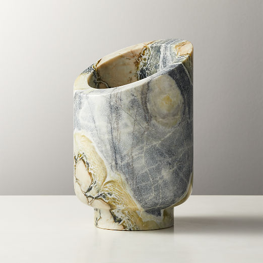 Curve Grey Floral Marble Wine Chiller
