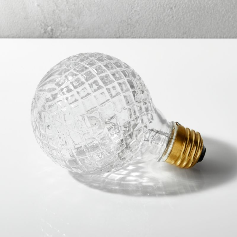 cut glass halogen 40W light bulb + Reviews | CB2