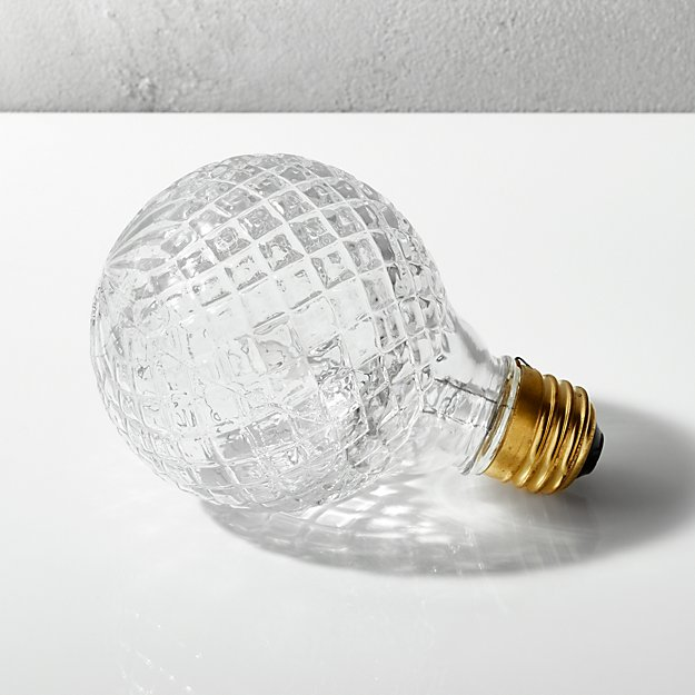 cut glass halogen 40w light bulb reviews cb2. Black Bedroom Furniture Sets. Home Design Ideas