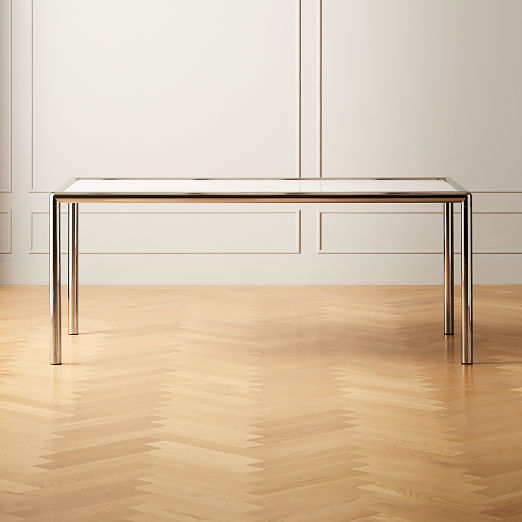 Cy Metal and Marble Dining Table