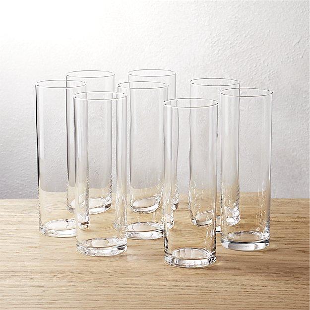 Set of 8 Cylinder Champagne Flutes - Image 1 of 10