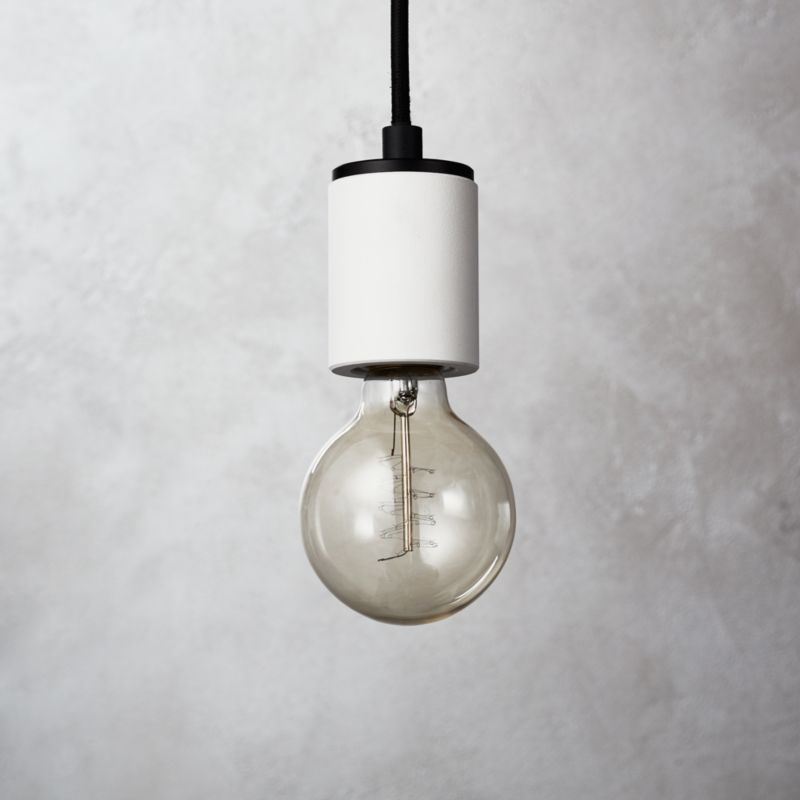 White pendant lights cb2 white cylinder pendant light aloadofball Image collections