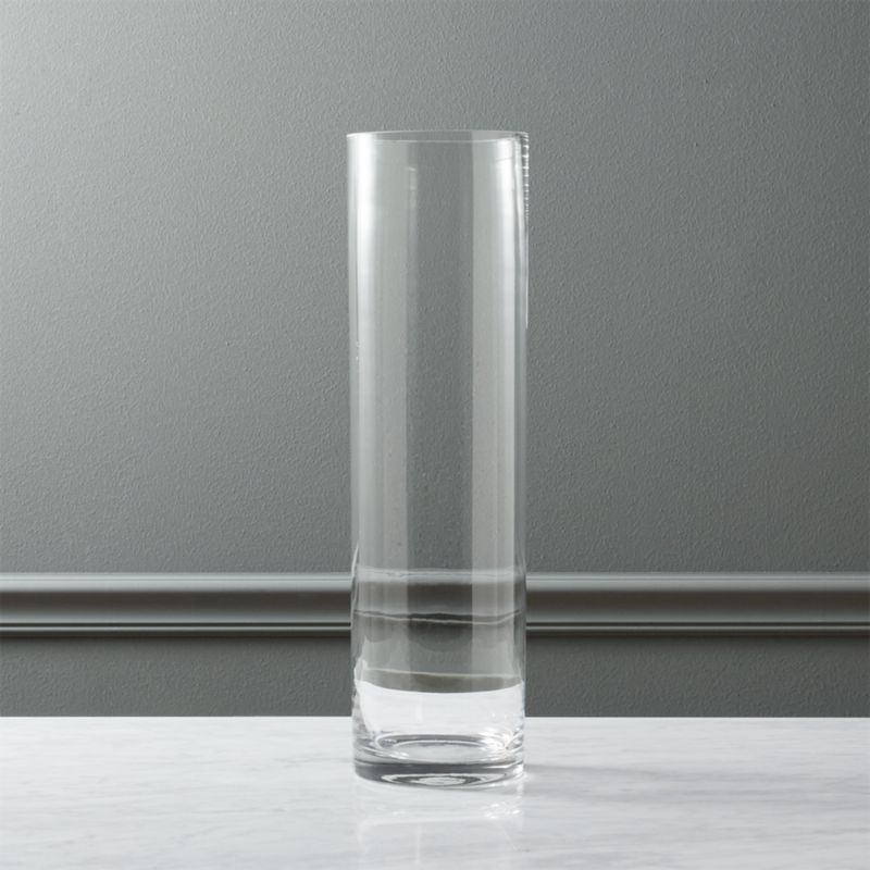 Clear Cylinder Vase 195 Reviews Cb2