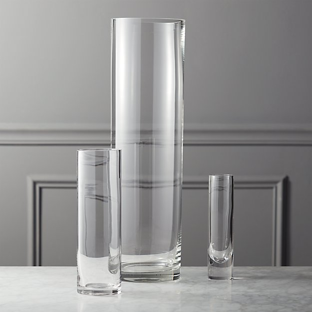 Clear Cylinder Vases Cb2