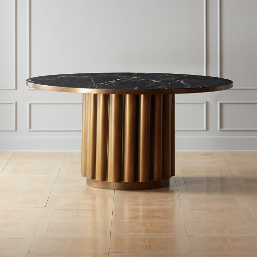 Cypher Black Marble Dining Table