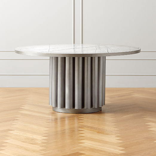 Cypher White Marble DIning Table