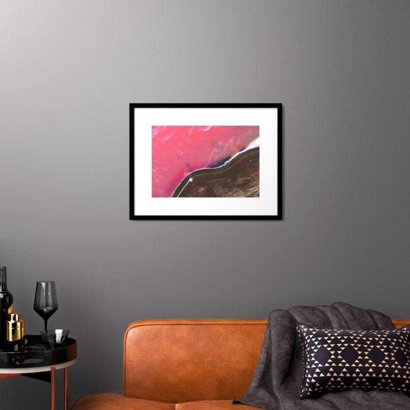 pink wall art | CB2