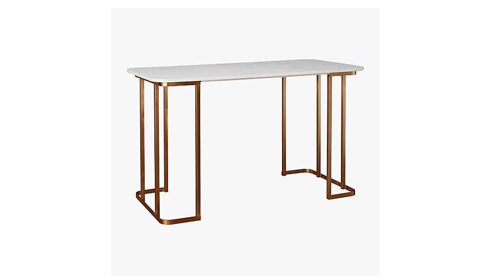Dahlia Marble Desk + Reviews | CB2