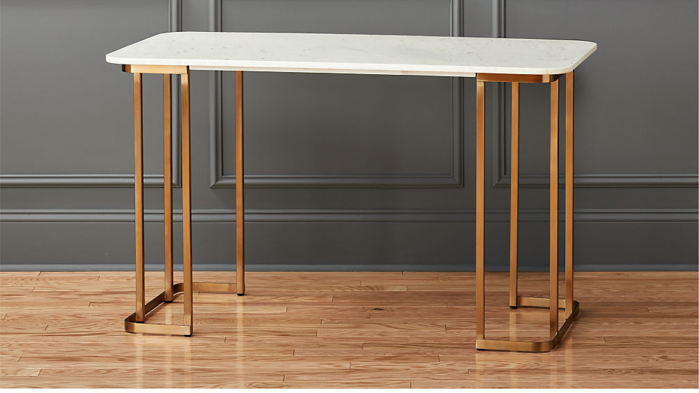 Dahlia Marble Desk - Image 1 of 9