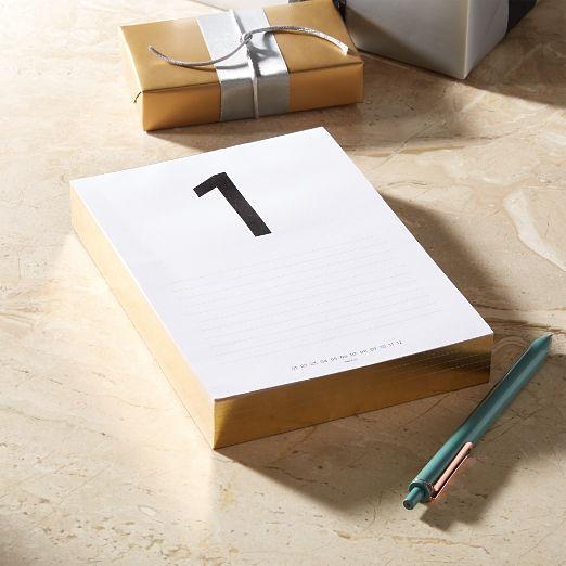 Daily Calendar Pad 6 Months