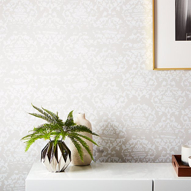 Damask White And Light Grey Wallpaper Reviews
