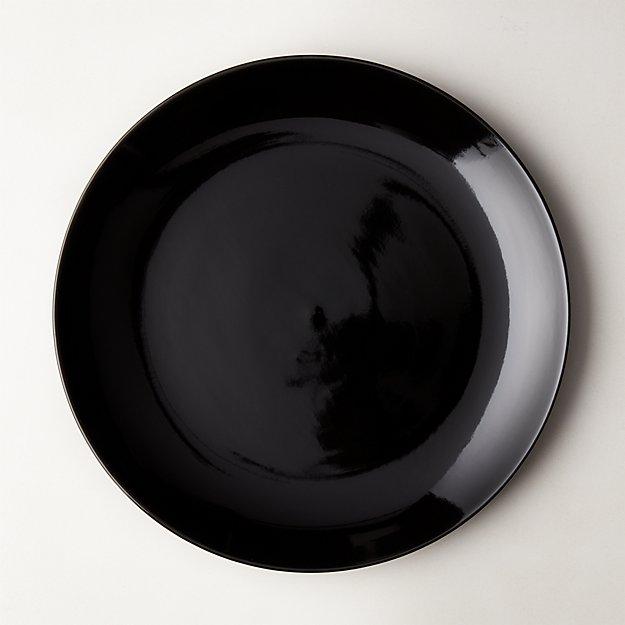 Daphne Black Dinner Plate - Image 1 of 11