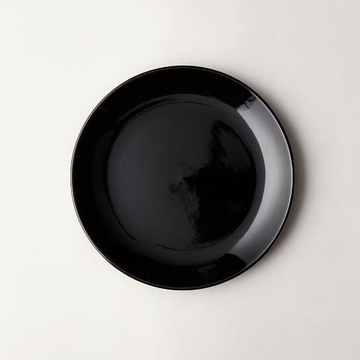 Daphne Black Salad Plate