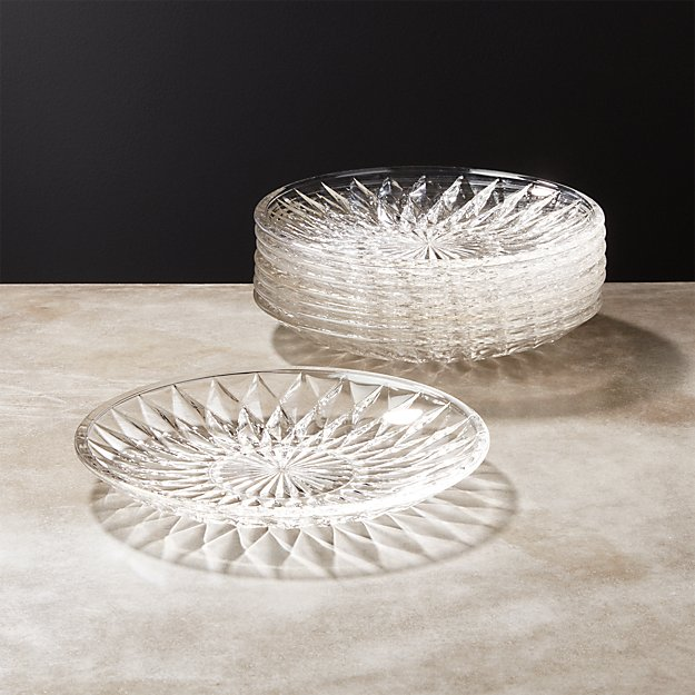 Daphne Glass Appetizer Plate Set of 8 - Image 1 of 8
