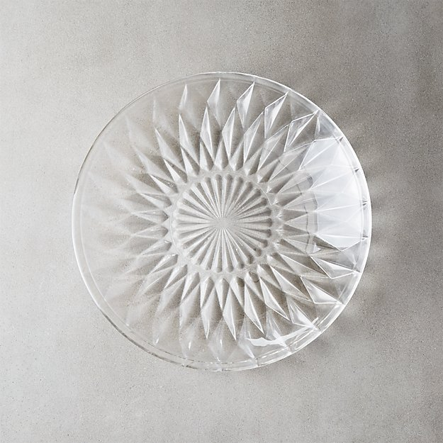 Daphne Glass Appetizer Plate - Image 1 of 8