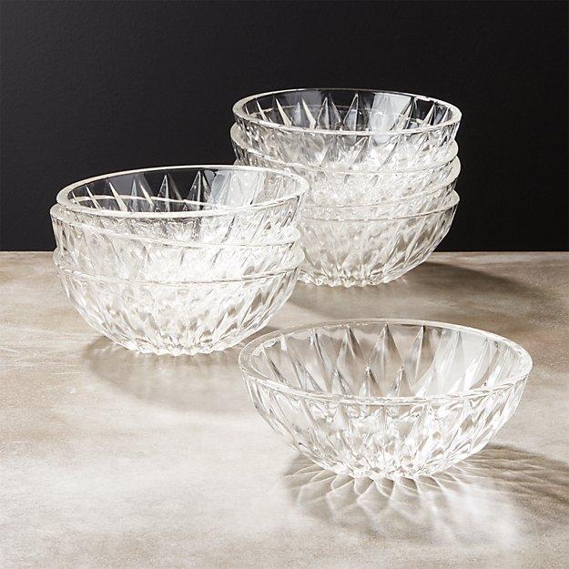 Daphne Glass Appetizer Bowls Set of 8 - Image 1 of 8
