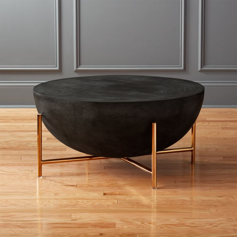 Beau Darbuka Brass Coffee Table + Reviews | CB2