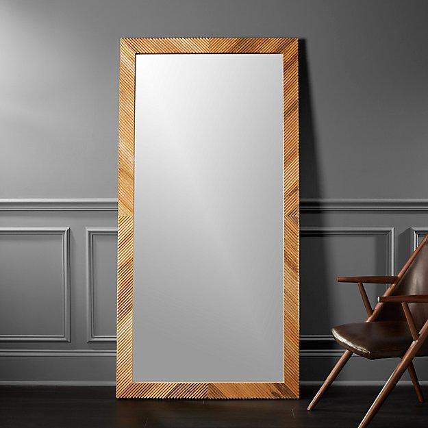 Darron Wood Floor Mirror 36\