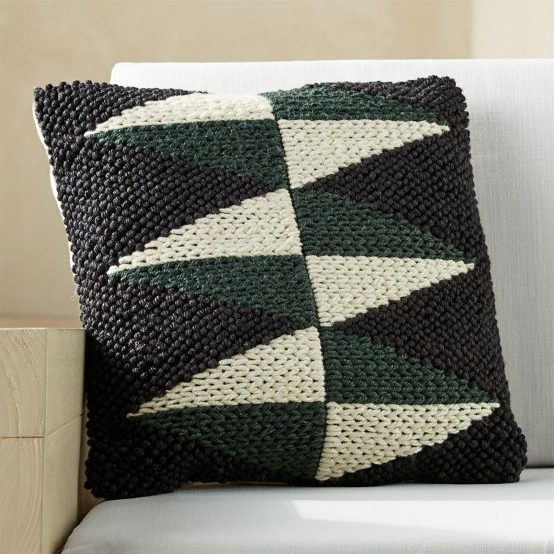 20 dart outdoor black white green diamond pillow reviews cb2