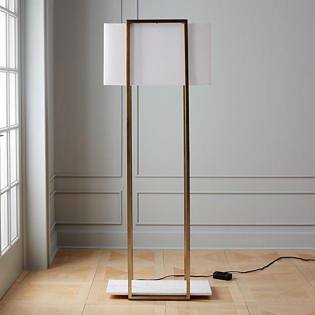 Dauphine Marble Floor Lamp Reviews Cb2