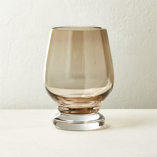 Dauphine Vintage Smoke Double Old-Fashioned Glass
