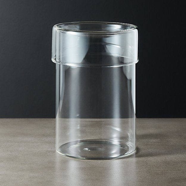 Dawson Large Round Glass Canister - Image 1 of 7