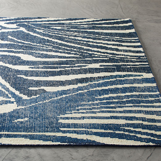 Dazzle Handknotted Blue Rug