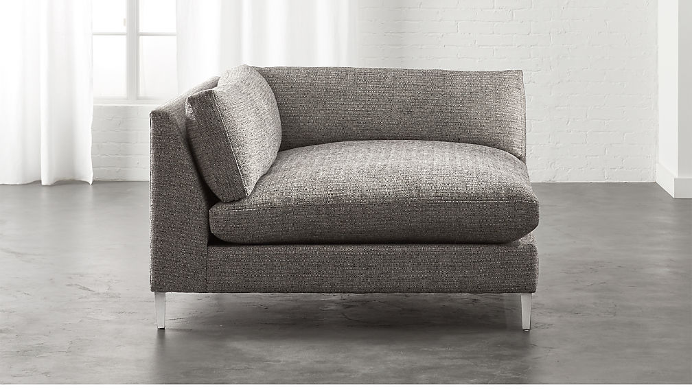 Decker Grey Left Arm Chaise Sofa Reviews Cb2