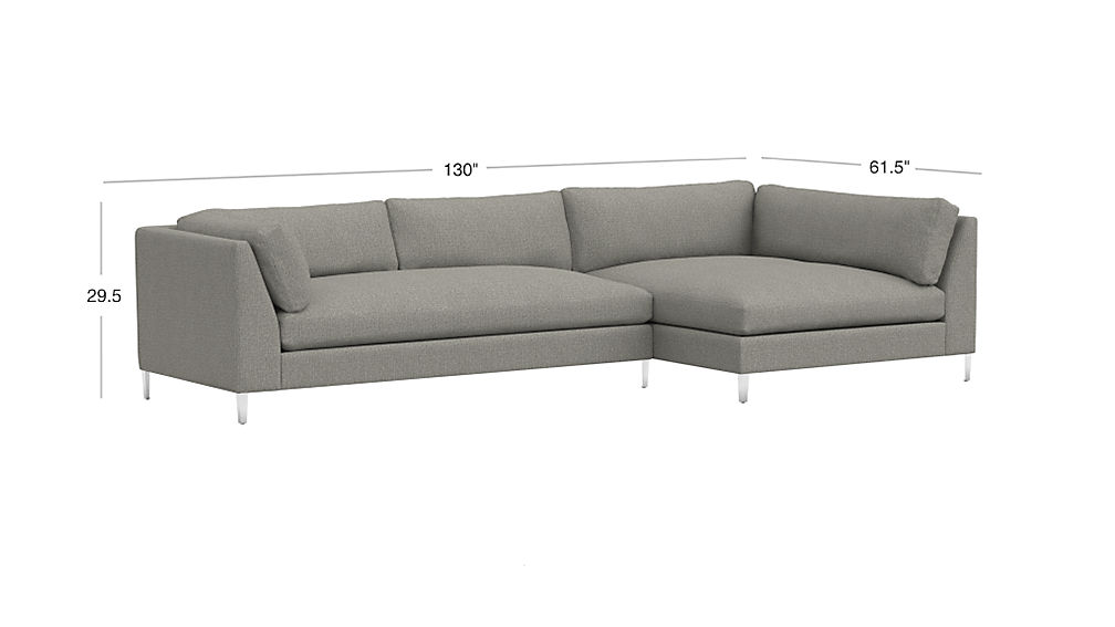 Decker Grey 2 Piece Sectional Reviews Cb2
