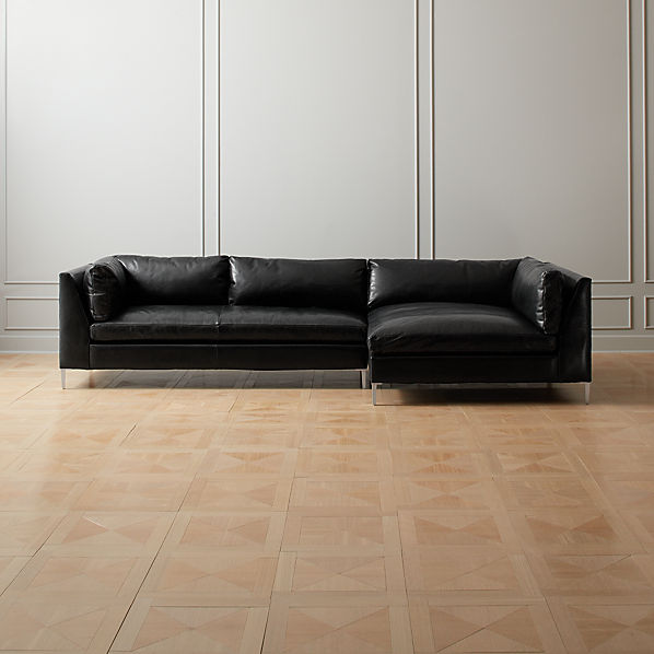 Decker 2-Piece Leather Sectional Sofa