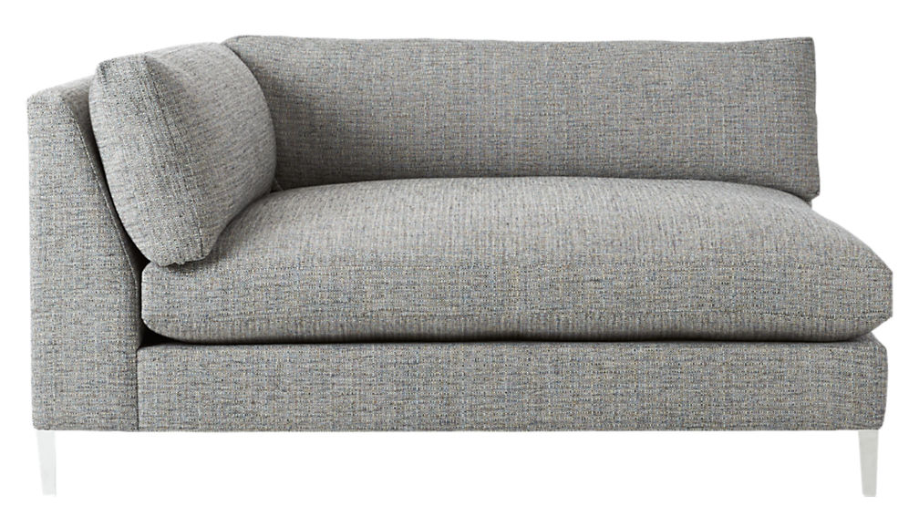 Decker Grey 2 Piece Sectional + Reviews | CB2