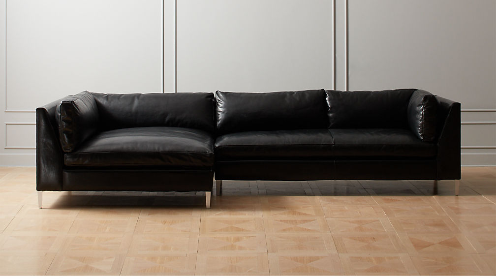 Decker 2-Piece Leather Sectional Sofa + Reviews | CB2