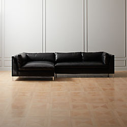 Decker 2 Piece Leather Sectional Sofa