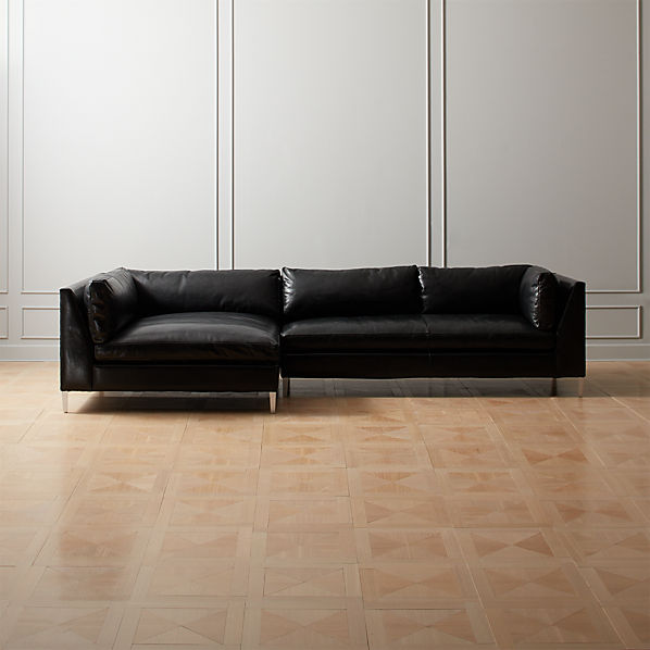 Decker 2-Piece Leather Sectional Sofa | CB2