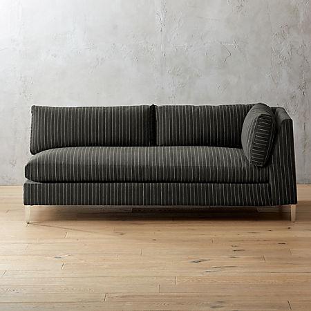 Superb Decker Right Arm Pinstripe Sofa Pdpeps Interior Chair Design Pdpepsorg