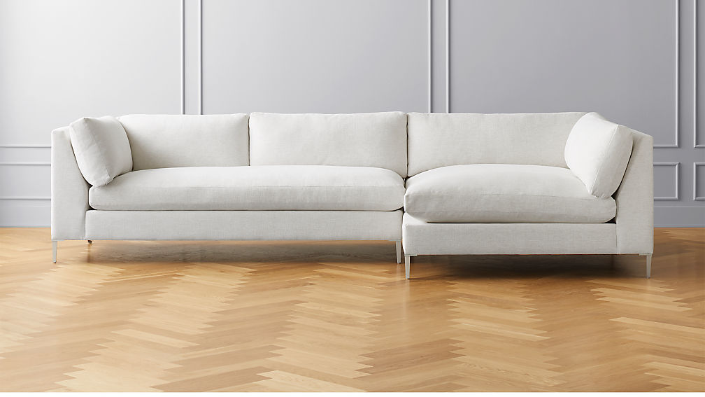 Decker 2-Piece Snow Sectional Sofa
